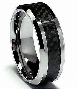 MENS TUNGSTEN CARBIDE WITH CARBON FIBRE INLAY WEDDING