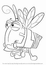 Wordworld Fly Draw Drawing Step Cartoon Drawingtutorials101 Tutorials sketch template