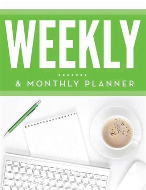 barnes and noble planners weekly monthly planner by speedy publishing llc