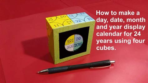 diy day date month year display calendar years