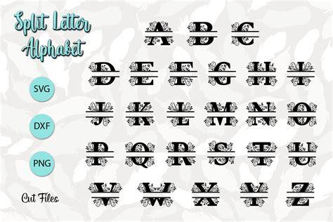 split letter alphabet svg cut files  cut files design bundles