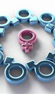Female Attracting Male Symbols Digital Art by Allan Swart
