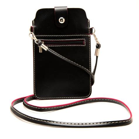 fashionable vertical pouch carrying shoulder bag case