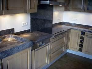 stunning granit plan de travail couleur ideas design With credence plan de travail cuisine