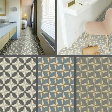 Floor Lino Bathroom by Geometric Design Vinyl Flooring Kitchen Bathroom Lino