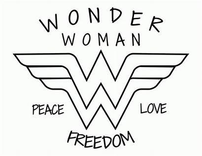 Wonder Woman Stencil Coloring Draw Shirt Clipart
