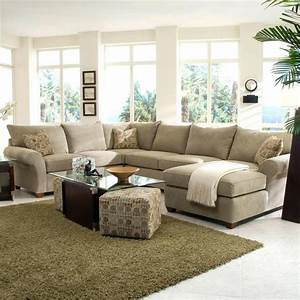 Sofa good looking microfiber chaise sofa full size of for Large sectional sofa in small living room