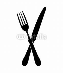 """crossed fork over knife - vector"" Stock image and royalty ..."