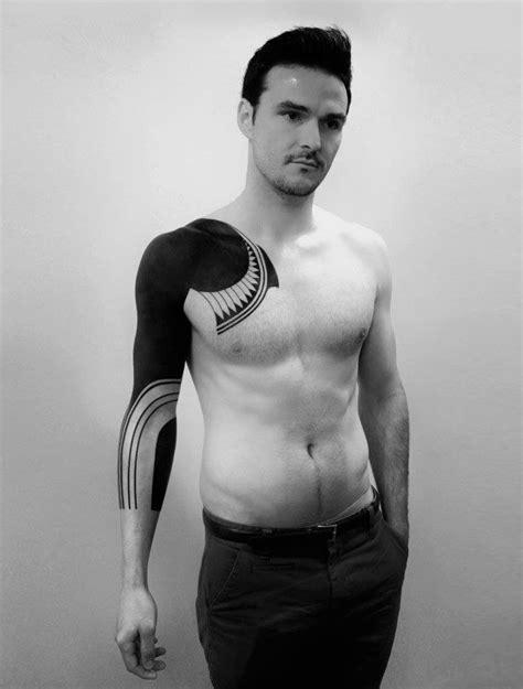 Modern men black tattoo - | TattooMagz › Tattoo Designs / Ink Works / Body Arts Gallery