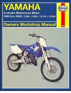 Yamaha Yz80  Yz85  Yz125  Yz250 Repair Manual 1986