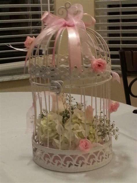 baby showerbird cage  flower baby shower party ideas