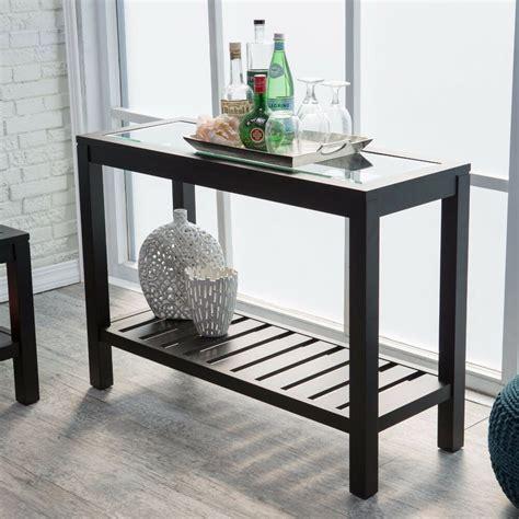 black console table sofa entryway furniture glass top wood accent hallway shelf ebay