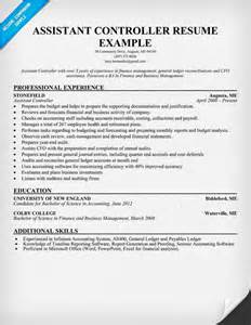 Assistant Controller Resume Sles by Sle Assistant Controller Resume Images