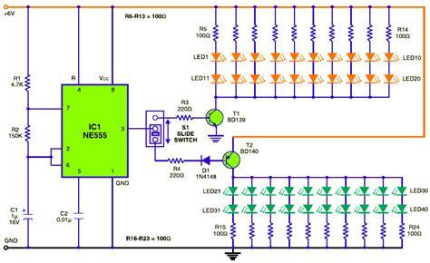 Traffic Baton With Bulb Led Flasher Circuit Scheme