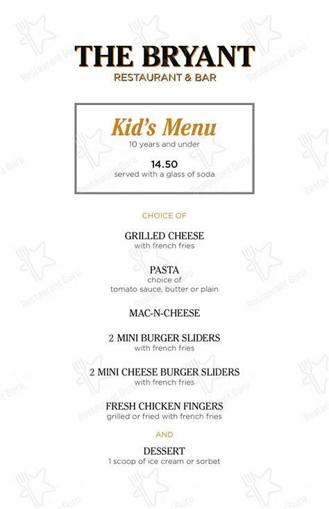 menu   bryant restaurant huntington station
