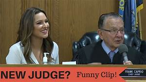 Judge Caprio & Beautiful Assistant Working the Case - YouTube