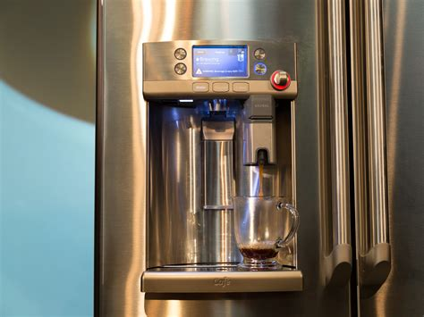 ge cafe series french door refrigerator  keurig  cup brewing system release date price