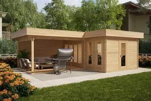 corner summer house with large veranda hansa a 18m2 44mm With whirlpool garten mit betonfertigteil balkon preis