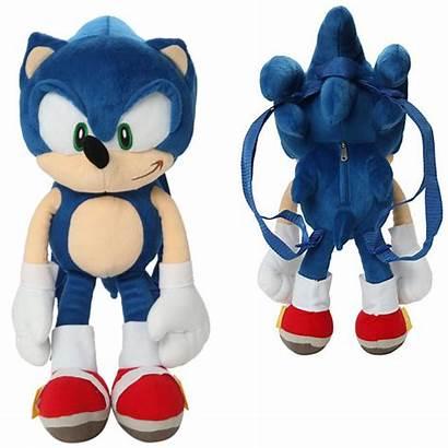 Sonic Plush Hedgehog Backpack Classic Rings Put