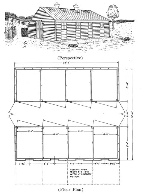 houses blueprints plans for hog houses small farmer s journal