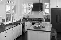 black and white kitchen Black and White Kitchen Cabinets - Home Furniture Design