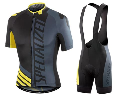 2016 Sped Pro Team Szk Black Grey Yellow Cycling Jersey