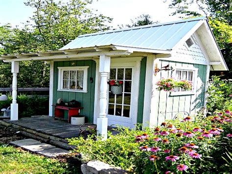 Cute Porch Ideas, Country Garden Sheds Cottage Garden Shed