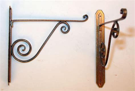 wrought iron pot rack hangers pair