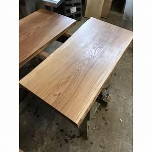 Tischplatte Eiche Geölt : tischplatte waschtisch eiche beidseitig baumkante rustikal geschliffen ge lt 200x50x4 5cm ~ Frokenaadalensverden.com Haus und Dekorationen