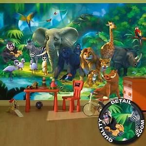 Fototapete Kinderzimmer Wald : fototapete tapete wandbild kinderzimmer dschungel kinder ~ Watch28wear.com Haus und Dekorationen