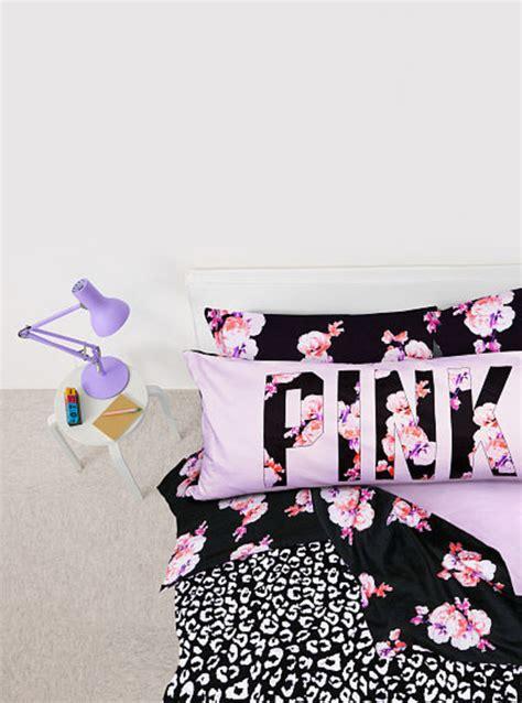 Secret Bedding by Victorias Secret Pink Floral Leopard Comforter Sheets Set