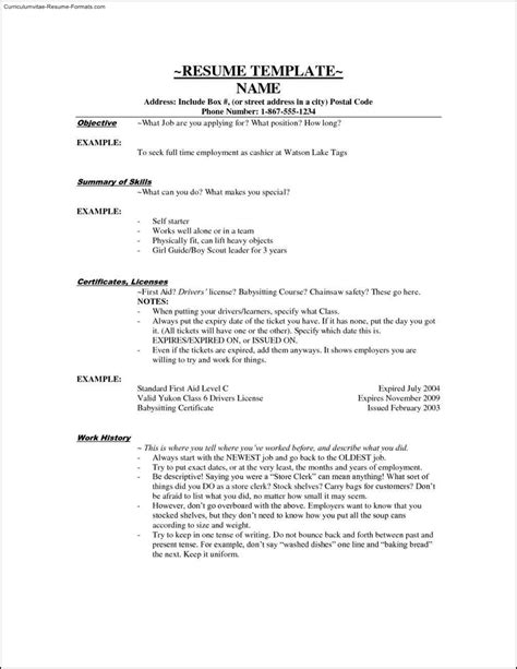 Cashier Resume Template by Cashier Resume Template Free Sles Exles Format