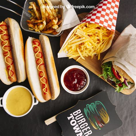 Best free packaging mockups from the trusted websites. Free PSD   Delicious fast food mockup