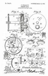 Fishing Reel Drawing Reels Fullilove Kentucky Patent Frank Crown Getdrawings sketch template