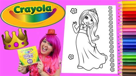 coloring  princess crayola coloring book page colored