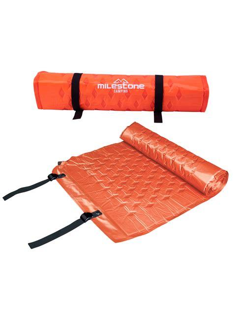 self inflating air mattress milestone self inflating cing mat air bed c