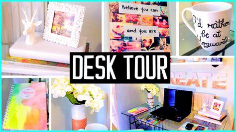 Desk Tour! What's In My Desk! Diy Decor & Organization