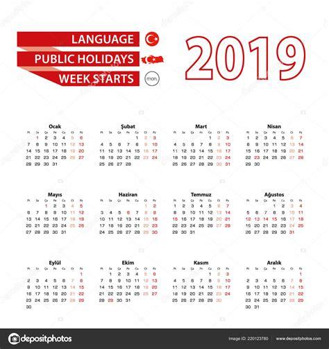 calendar turkish language public holidays country turkey year