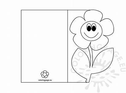 Coloring Card Mothers Pages Mother Credit Cards