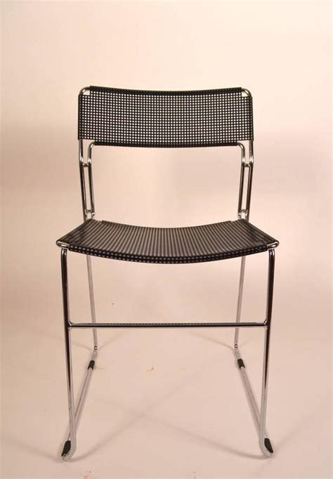 black metal desk chair black and chrome metal mesh chair for sale at 1stdibs