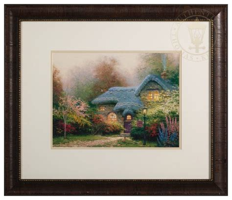 Home Interiors Kinkade Prints by S Hutch Framed Matted Print Signed By