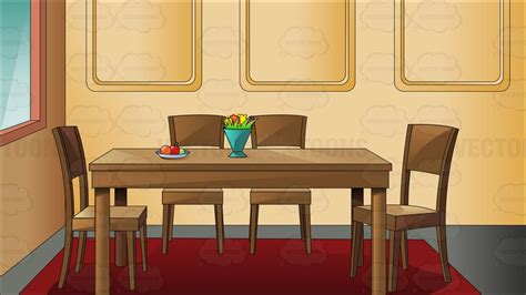 traditional household dining room clipart vector