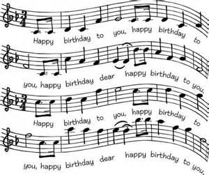 Happy Birthday Music Sheet Stamp
