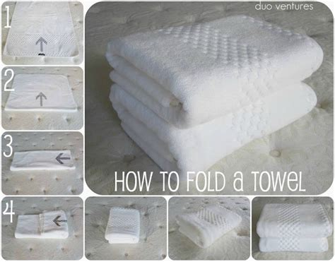 how to fold towels how to fold a towel duo ventures clean organized pinterest
