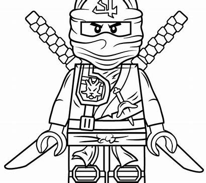 Ninja Coloring Pages Ninjago Nya Lego Sheets