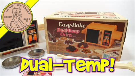 easy bake dual temp oven kenner toys cinnamon
