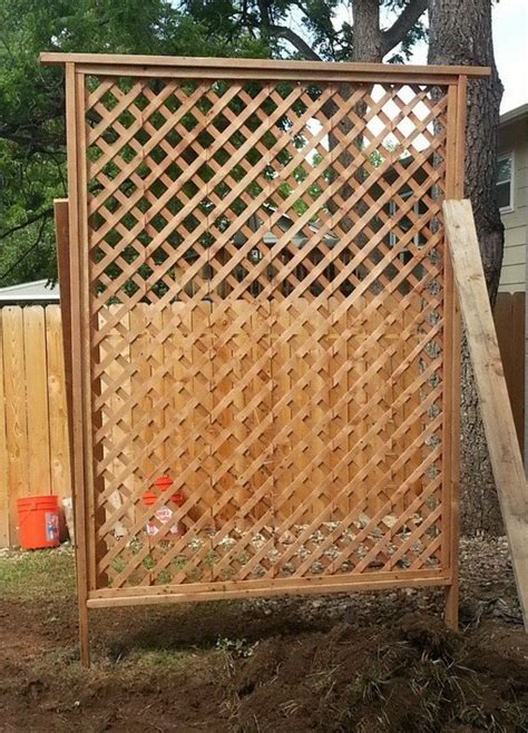 how to make a trellis how to get added privacy in your backyard by building a