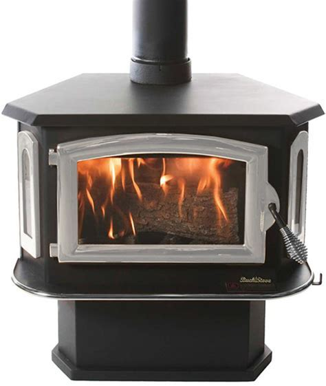 Buck Stove Model 18 Non Catalytic Wood Stove   Pewter Door