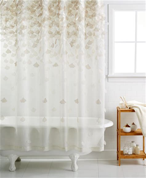 martha stewart shower curtains martha stewart collection falling petals shower curtain