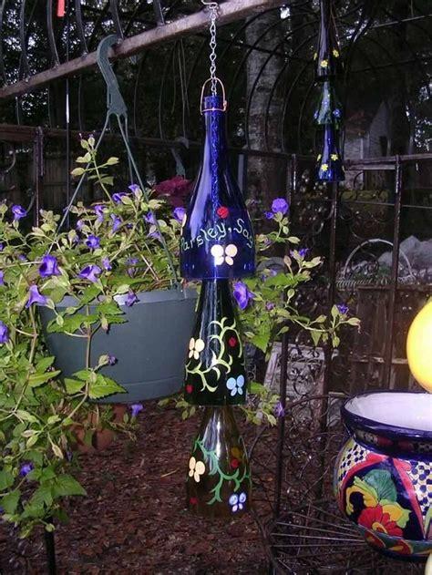 diy wine bottle ideas   garden  wine bottle